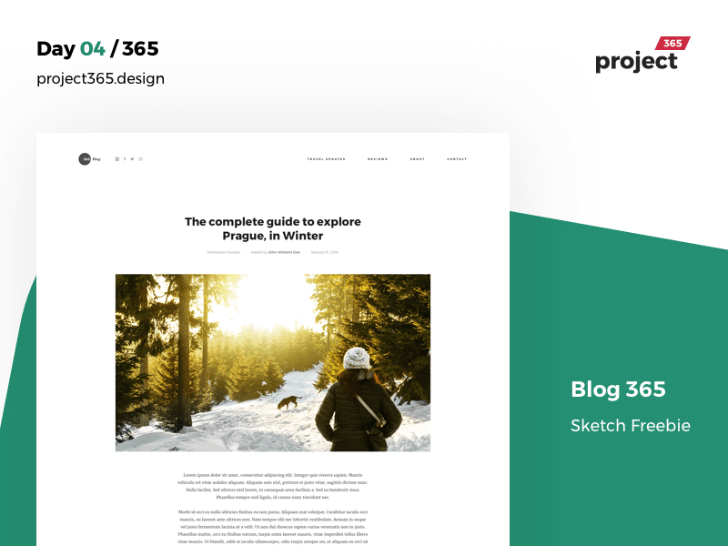 Minimalist Blog Template Sketch