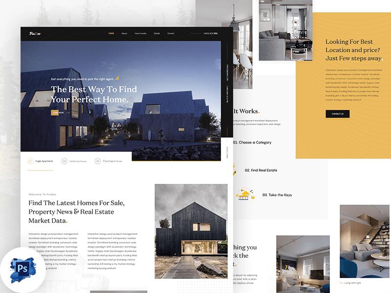 Real Estate Landing Page PSD