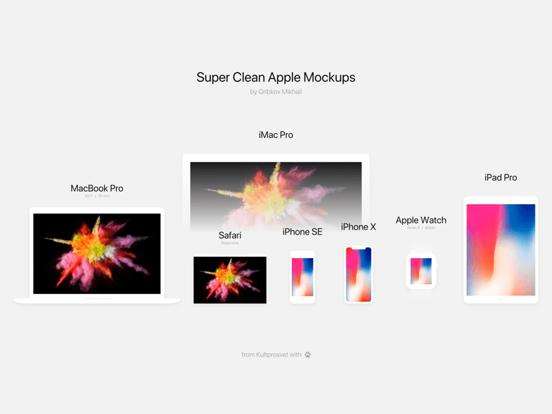 Apple Mockups Sketch