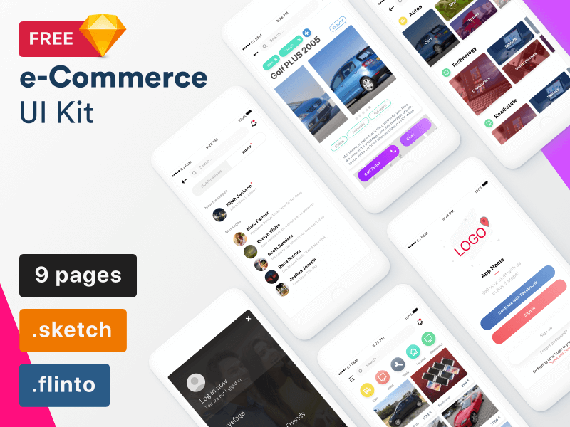 e-Commerce UI Kit Sketchapp