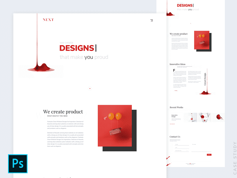 Agency Landing Page Design PSD