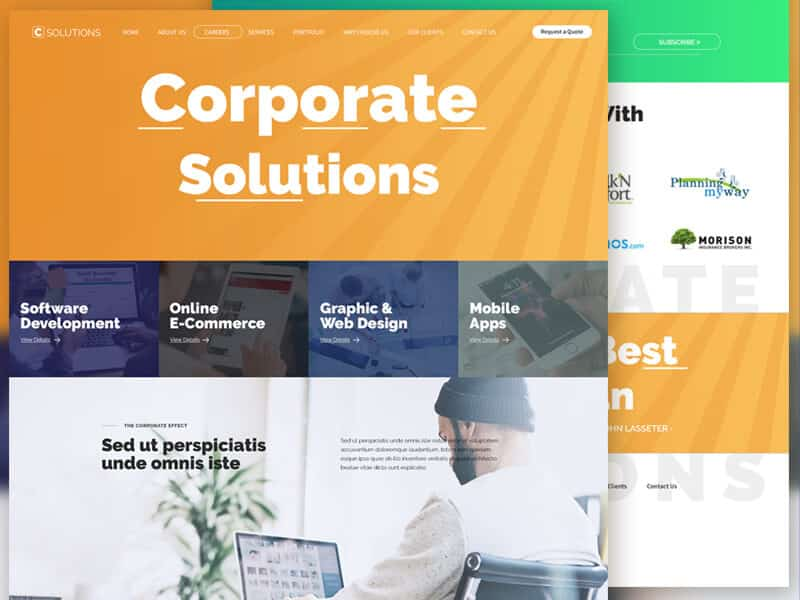 Corporate Solutions Website PSD