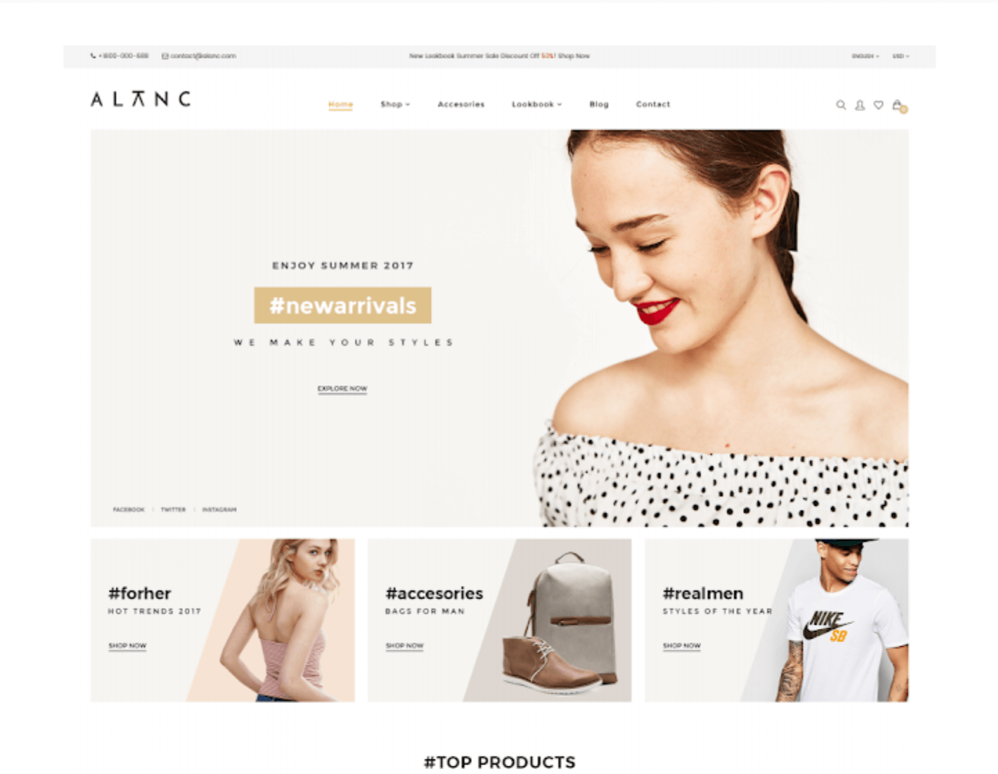 eCommerce Theme - Free PSD Template