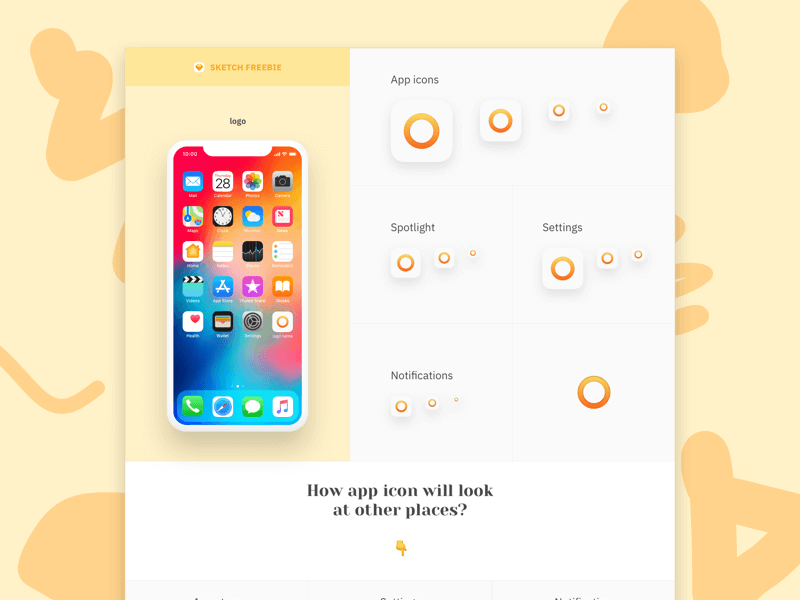 App icons template Sketch