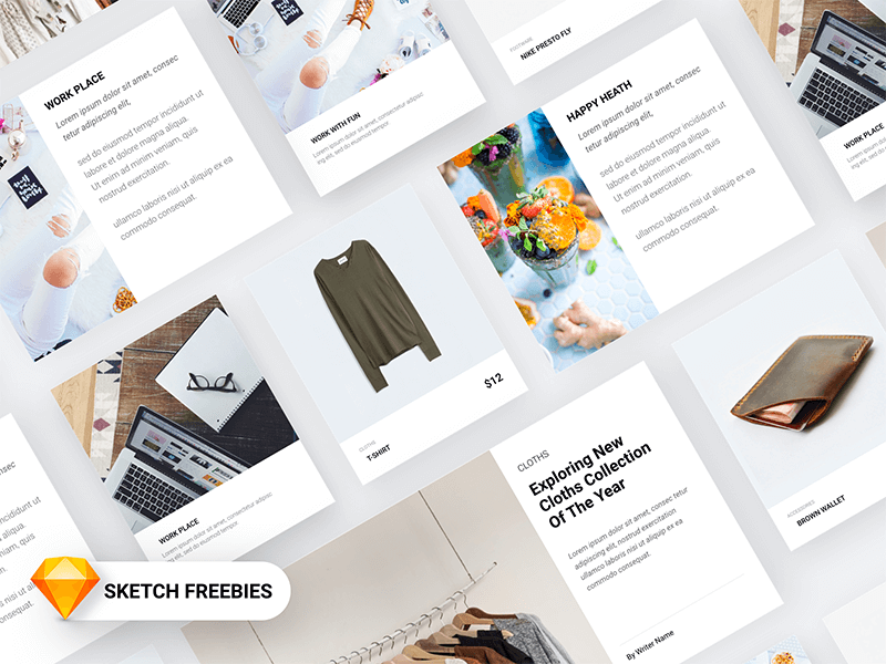 Material Design Card For Products Sketch