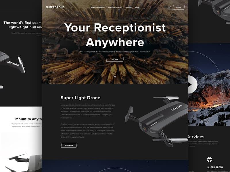 SuperDrone Website Template PSD