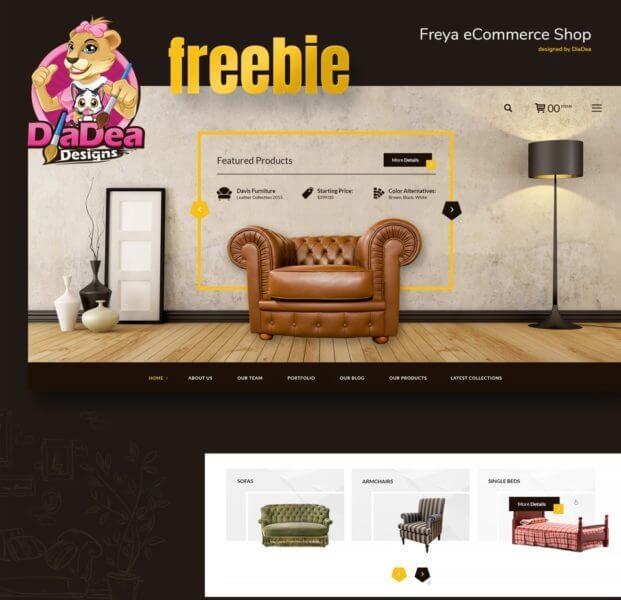 eCommerce website template PSD