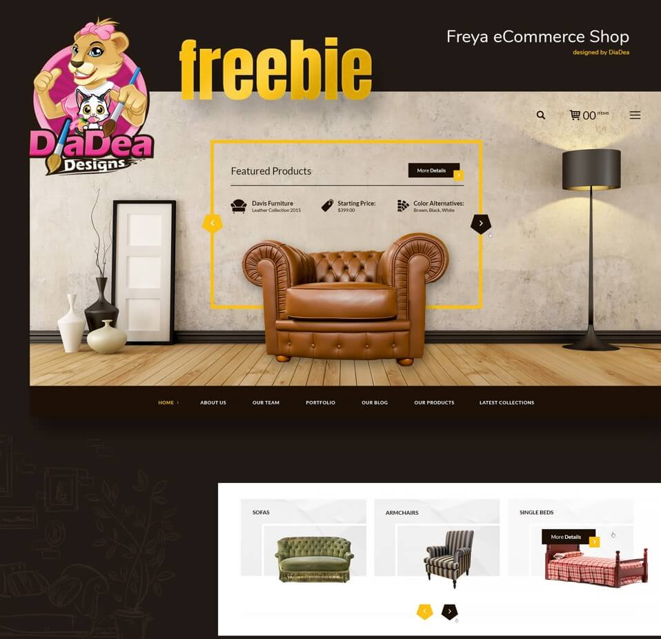E-commerce Website Template PSD