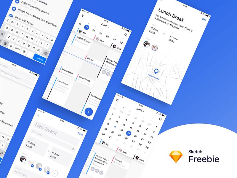 Calendar app sketch