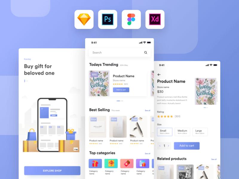 Gift shop UI kit app