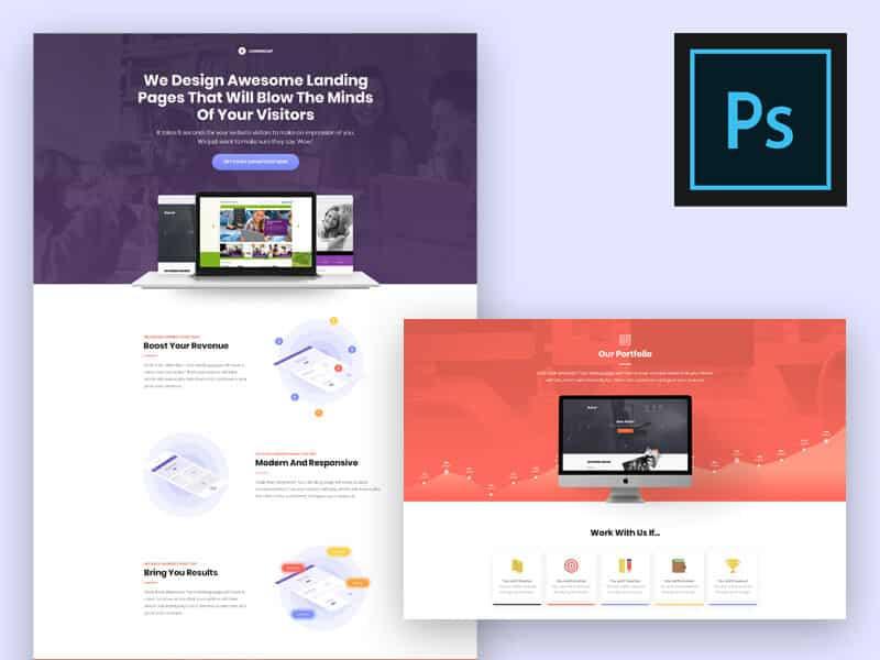 Landing Page Concept Experiment PSD