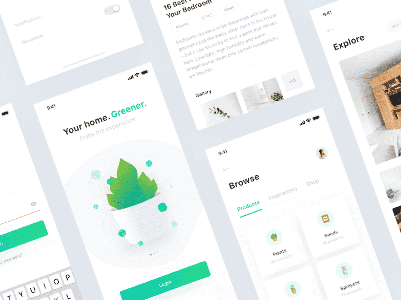 Plant app UI Kit .sketch