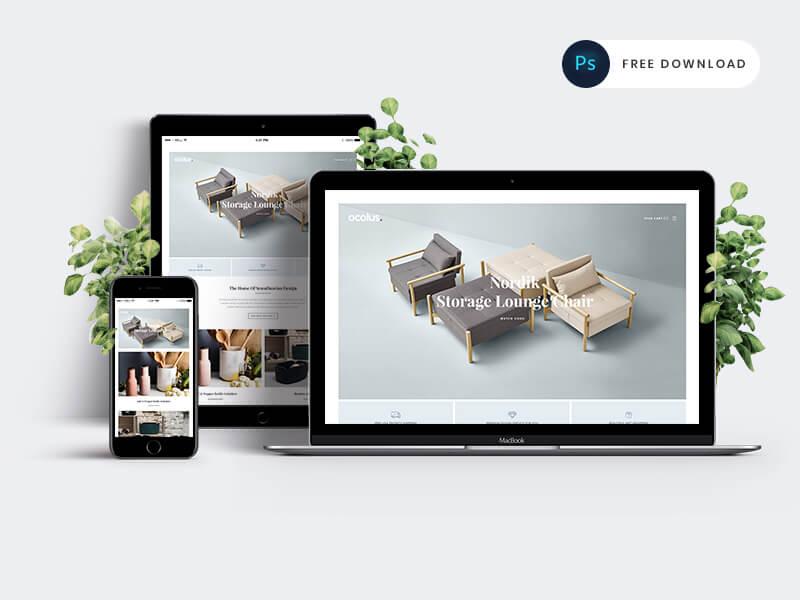 Creative & Modern E-commerce PSD