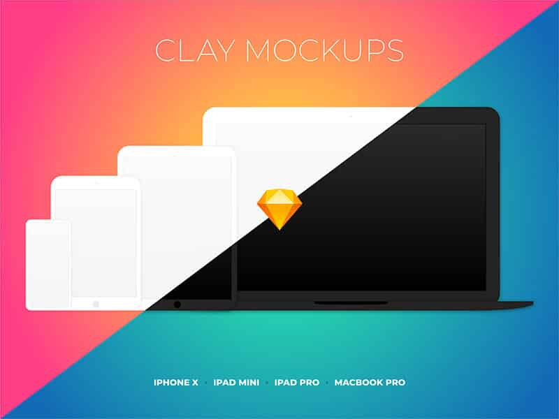 Clay Device Mockups Sketchapp