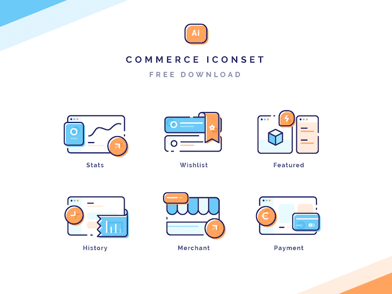 Commerce Iconset FREE Ai