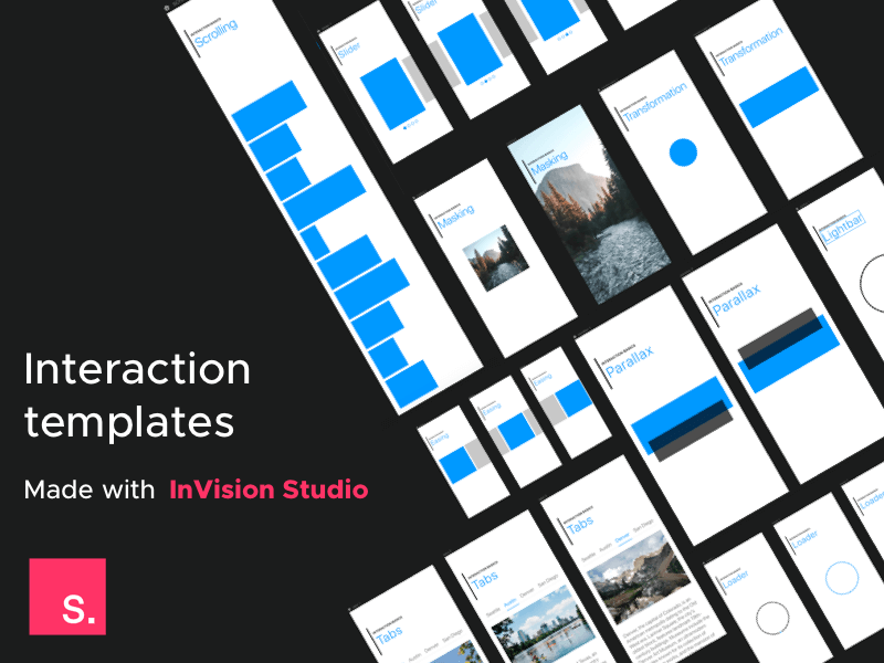 InVision studio interaction templates
