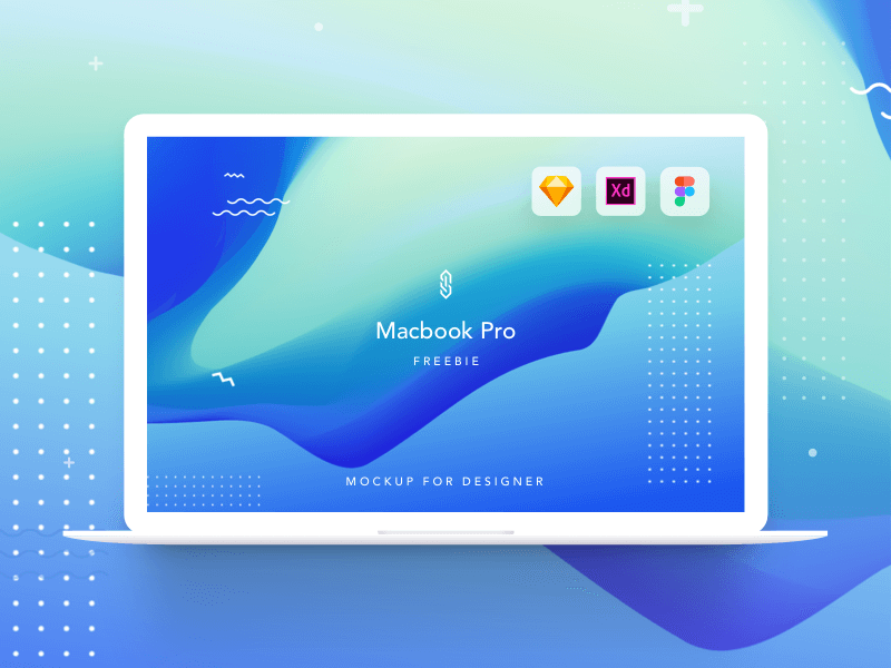 Macbook Pro Mockup (Sketch, XD, Figma)