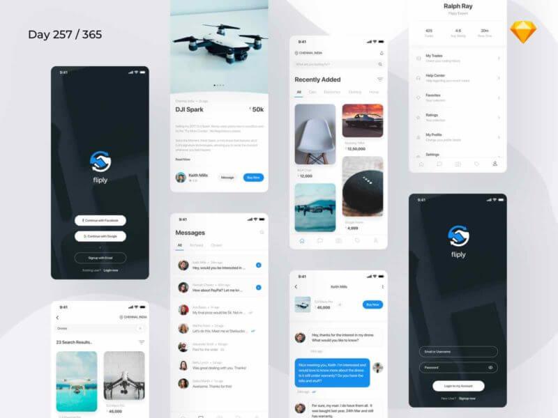 Marketplace App Sketchapp