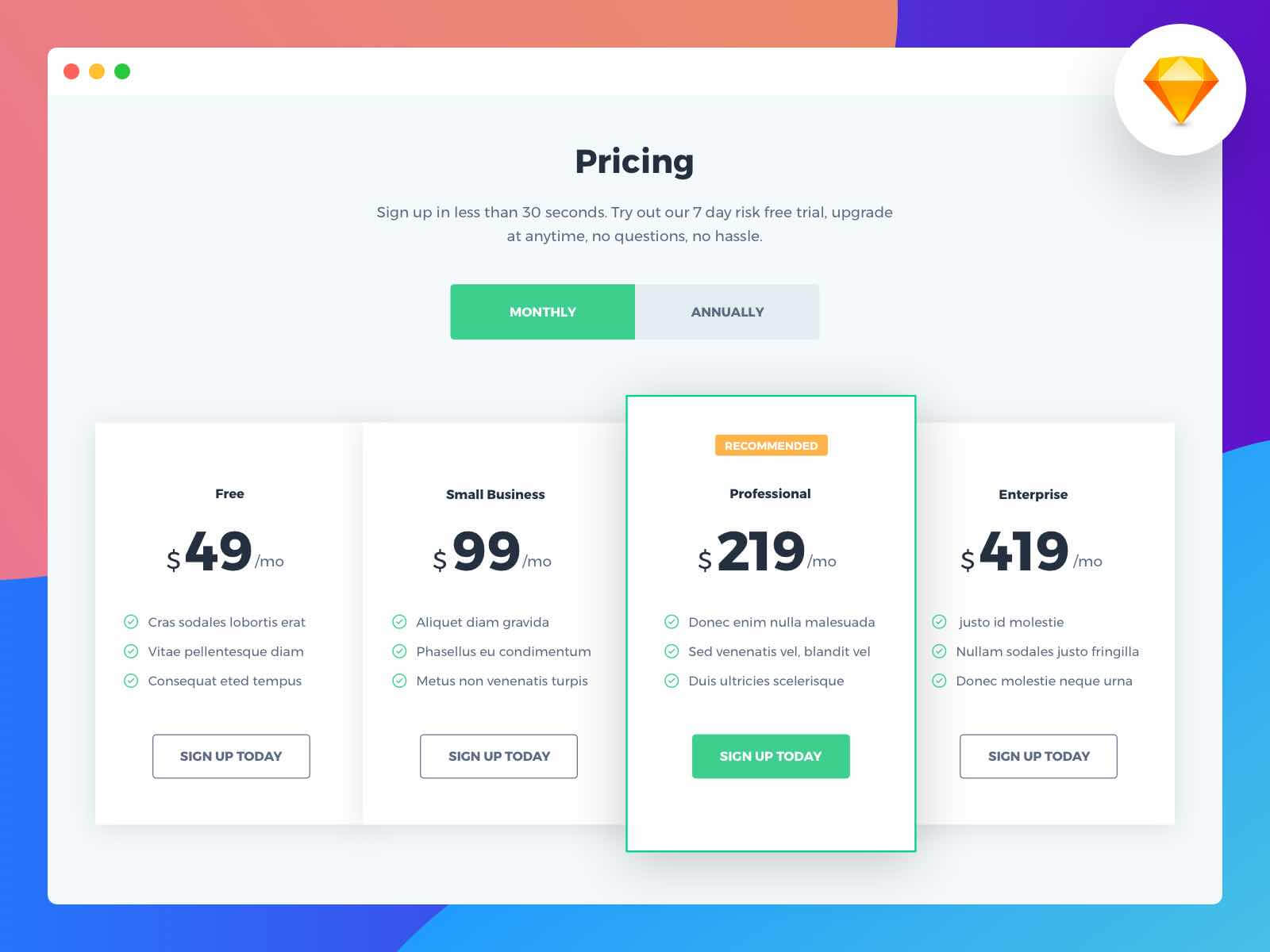 Pricing Sketchapp