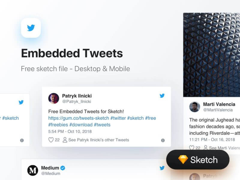 Embedded Tweets for Sketch