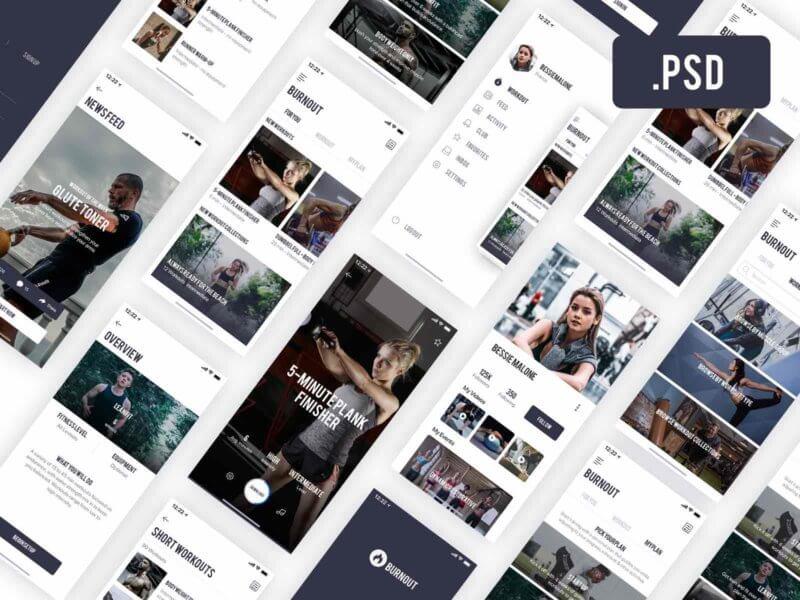 Fitness App PSD
