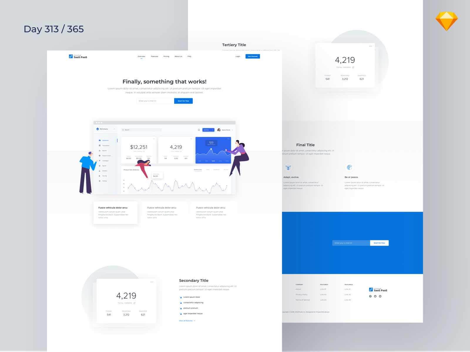 Landing Page website Sketchapp