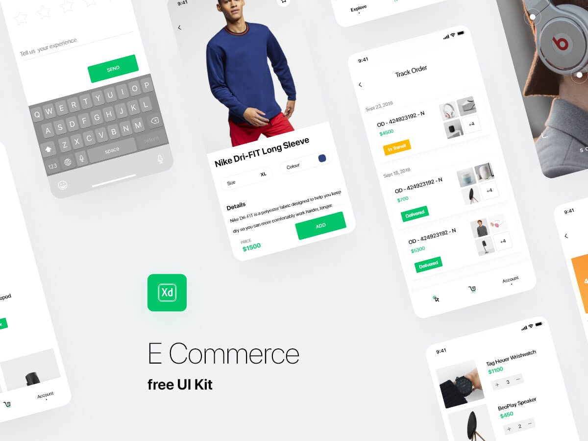 E-commerce UI kit Abode XD