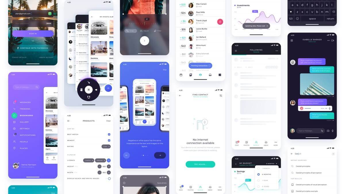 Atro Mobile UI kit