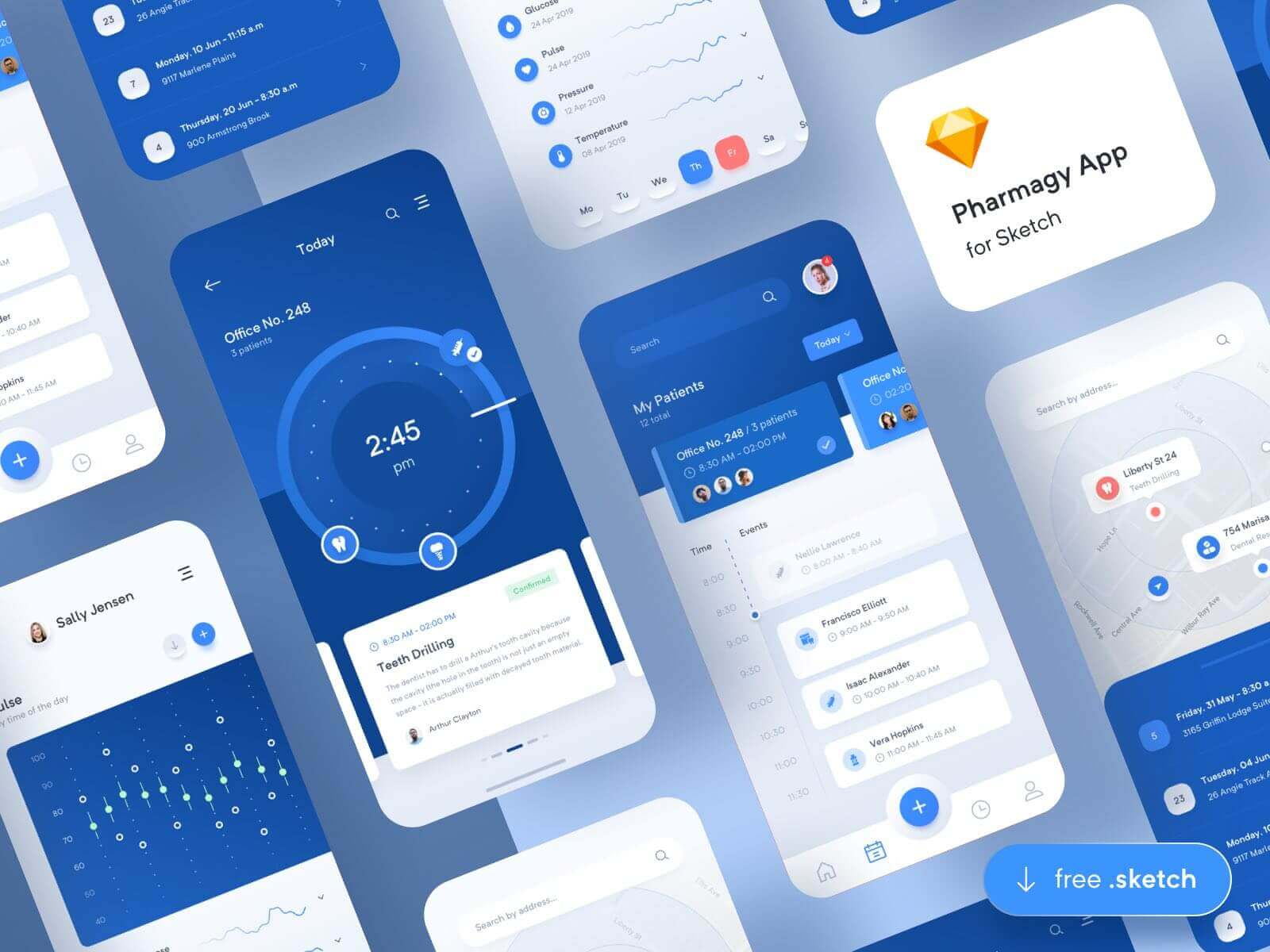 Pharmagy Medical App Sketchapp