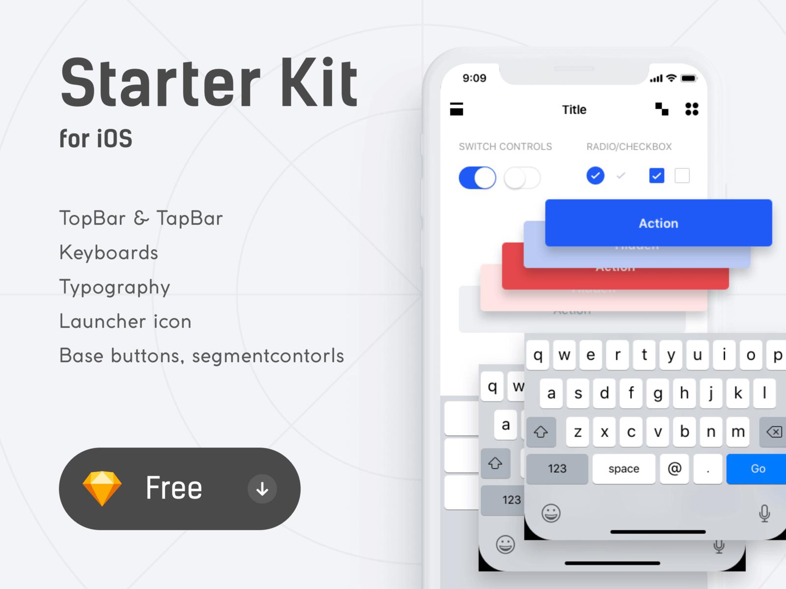 Starter Kit for iOS Sketchapp