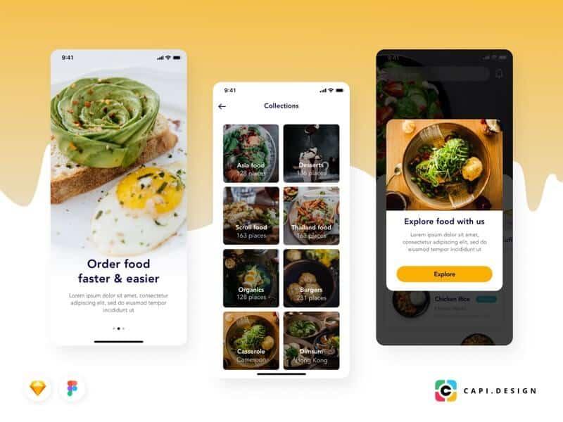 Food Order Mobile App Sketchapp-Figma