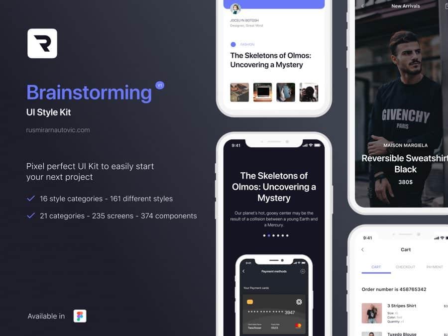 Brainstorming UI Style Kit Figma