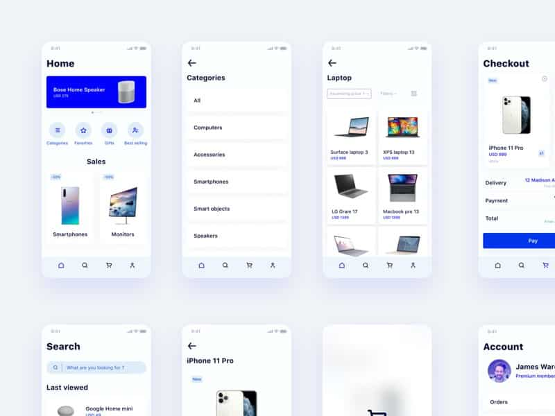 E-Commerce ui kit figma