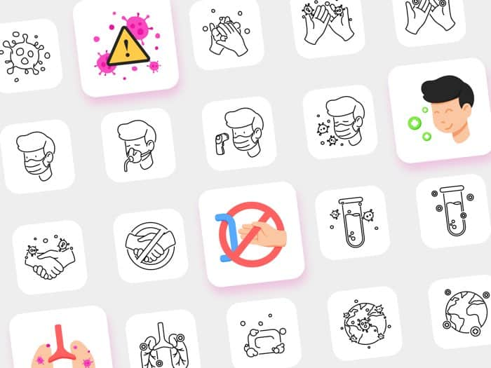 COVID-19 icon pack free