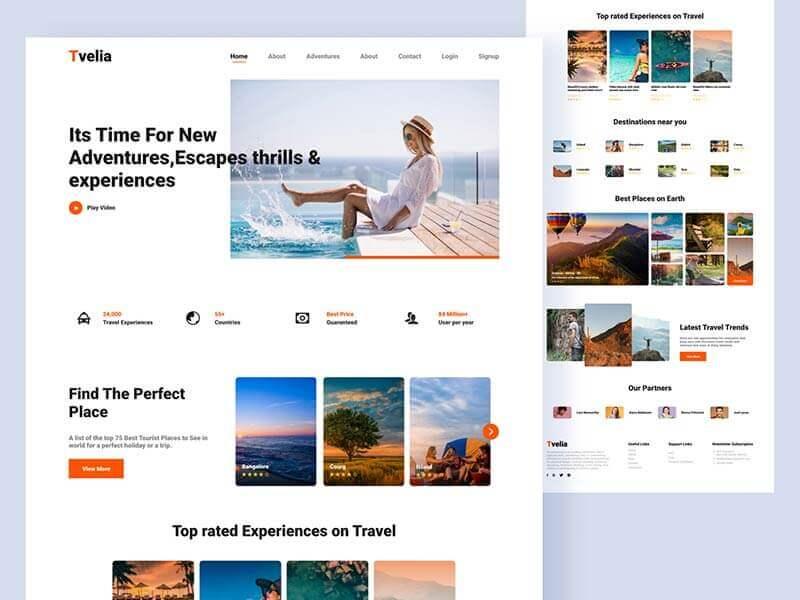 Travel Agency Website Figma